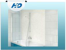 H2O edzett üveges kádparaván H2O kádakhoz, 75x143 cm