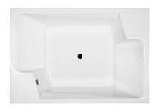 M-Acryl Grande kád, 190x125 cm, ajándék kádlábbal és peremrögzítővel 12038
