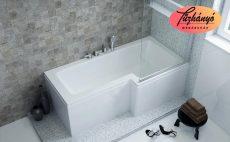 M-Acryl Linea aszimmetrikus akril kád, 150/160/170x70/85, balos vagy jobbos kivitel, ajándék kádlábbal és peremrögzítővel 12128,12129