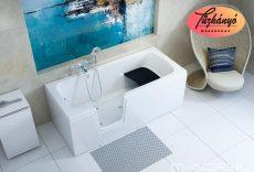 M-Acryl Héra akadálymentesített akril kád, 140x70/160x75/170x75/180x80 cm, ajándék kádlábbal és peremrögzítővel 12441