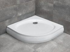 Radaway Patmos A íves zuhanytálca lábbal, levehető előlappal, 80x80 cm, ajándék szifonnal, 4S88155-03