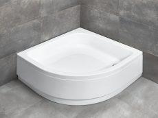 Radaway Samos A900 íves zuhanytálca lábbal, levehető előlappal, 90x90 cm, ajándék szifonnal, 4S99300-03
