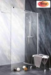 Sanotechnik Sanoflex Freedom II zuhanyfal, fali profillal, távtartóval, 108-109x195 cm, MP110