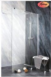 Sanotechnik Sanoflex Freedom II zuhanyfal, fali profillal, távtartóval, 118-119x195 cm, MP200