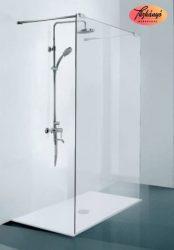 Sanotechnik Elegance zuhanyfal, 100x195 cm, N8100