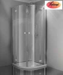 Sanotechnik Smartflex íves sarokkabin, 90x90x195 cm, D2290