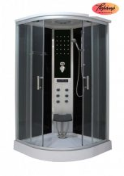 Sanotechnik Comfort hidromasszázs zuhanykabin elektronikával, 100x100x215 cm, CL100