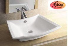 Sanotechnik ráépíthető, síklapos mosdó, 64,5x16x47 cm K815