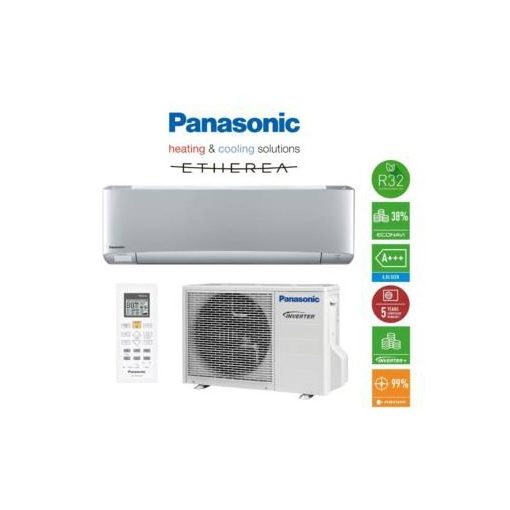 Panasonic XZ Etherea R32 ezüst klíma, 2 kW KIT-XZ20-VKE