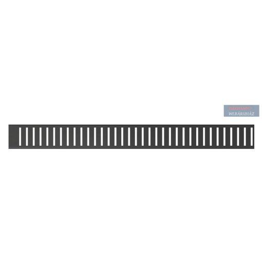 Alcaplast PUREBLACK Rács zuhanyfolyókához, rozsdamentes, fekete-matt, 300-1450 mm, PUREBLACK