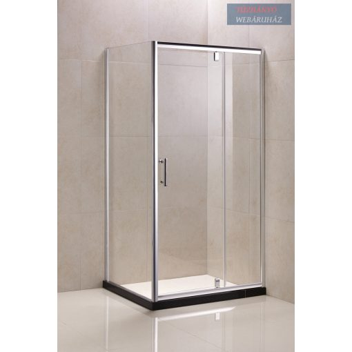 Wellmarkt szögletes zuhanykabin, tálca nélkül, 80x120 cm, MTRS-80-120