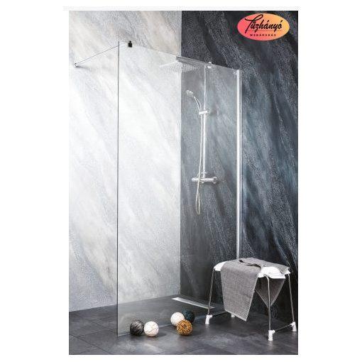 Sanotechnik Sanoflex Freedom II zuhanyfal, fali profillal, távtartóval, 98-99x195 cm, MP100