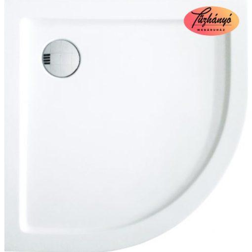 Sanotechnik Zeus 80 íves, akril zuhanytálca, 80x80x5,5 cm, GR80
