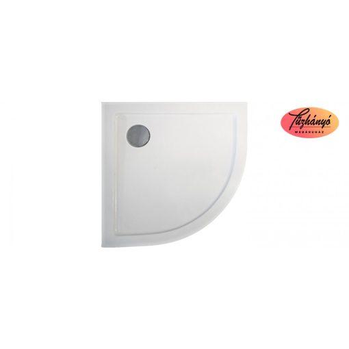 Sanotechnik Zeus 90 íves, akril zuhanytálca, 90x90x5,5 cm, GR90