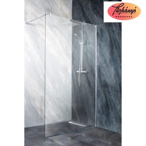 Sanotechnik Zeus 100 íves, akril zuhanytálca, 100x100x5,5 cm, GR100