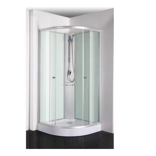Sanotechnik RIO zuhanykabin üveg hátfallal, 90x90x203 cm, PS03