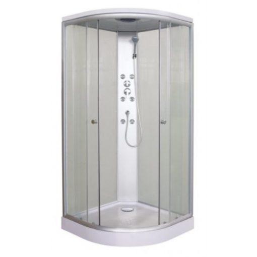 Sanotechnik PUNTO Quick Line hidromasszázs zuhanykabin, fehér, 90x90x207cm, CL01