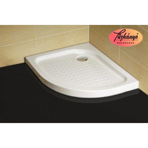 Sanotechnik balos zuhanytálca íves asszimmetrikus sarokkabinhoz, 70x90x12,5 cm, P79L
