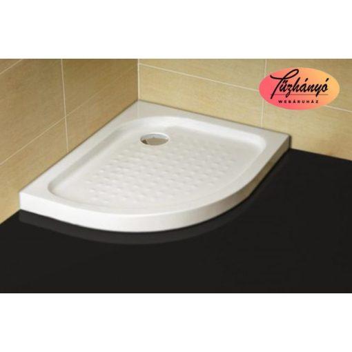 Sanotechnik jobbos zuhanytálca íves asszimmetrikus sarokkabinhoz, 70x90x12,5 cm, P79R