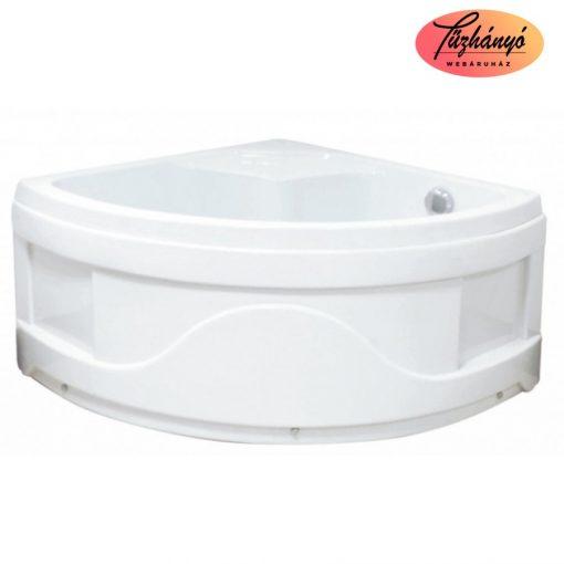 Sanotechnik magas zuhanytálca ülőkével, 90x90x50 cm, T25W