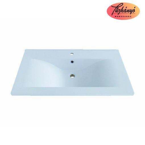 Sanotechnik ráépíthető, öntött márvány mosdó, 70,5x51,5x16,5cm,  D7050