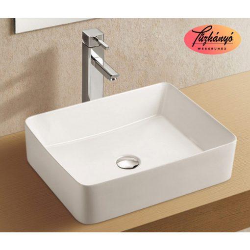 Sanotechnik ráépíthető, síklapos mosdó, 48x13x37,5 cm K720