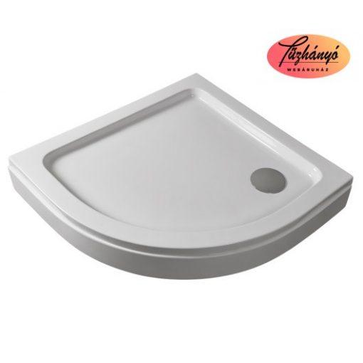 Sanotechnik íves, akril zuhanytálca, levehető előlappal, 80x80/90x90 cm, P28W