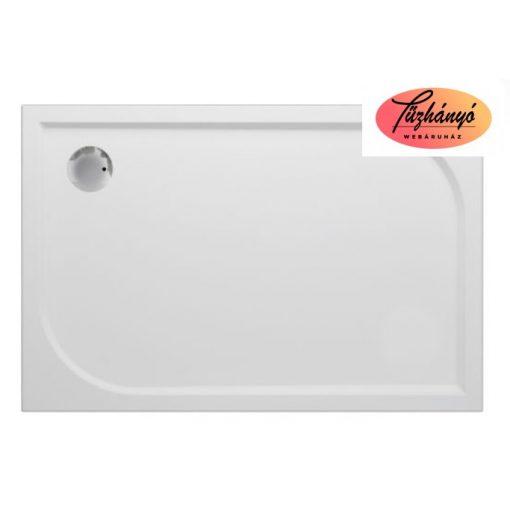 Sanotechnik Viva Aszimmetrikus, öntött márvány, zuhanytálca, 80x120 cm, 90020