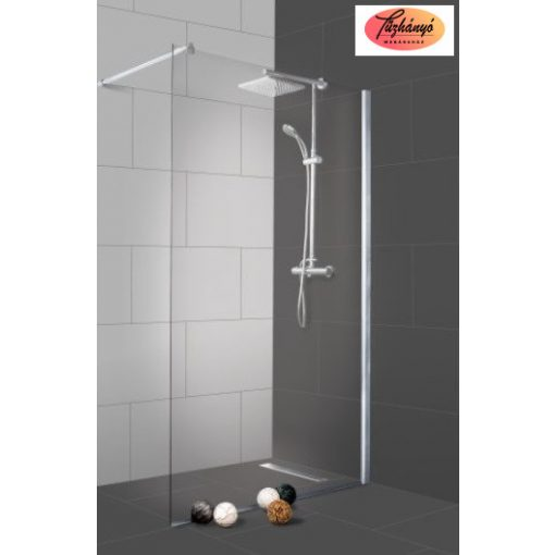 Sanotechnik Sanoflex Freedom II zuhanyfal, fali profillal, távtartóval, 148-149x195 cm, MP500