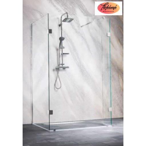 Sanotechnik Sanoflex Wide I zuhanyfal, háromrészes, 98 x 88/30 x 195 cm, MC1090