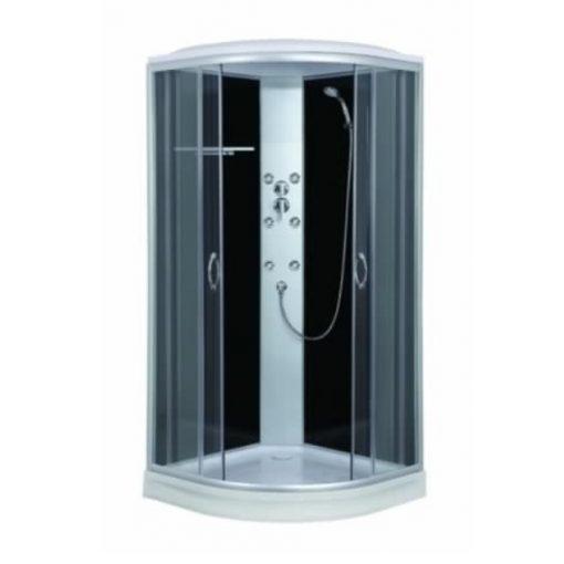 Sanotechnik PUNTO Quick Line hidromasszázs zuhanykabin, fekete, 90x90x209cm, CL07