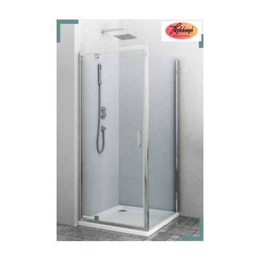 Sanotechnik Elite Sarokkabin pivot ajtó+oldalfal, 90x80x195/90x90x195 cm, T90+F80