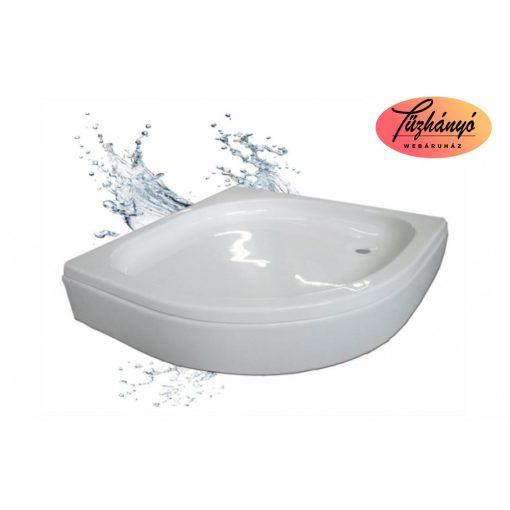 Sanotechnik Bora íves, akril zuhanytálca, 80x80/90x90 cm, GRS80
