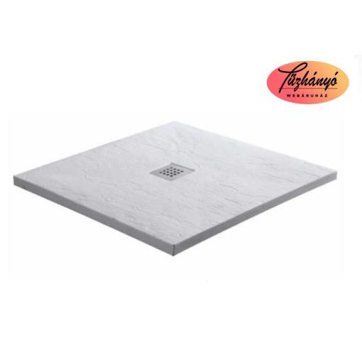 Sanotechnik KRETA öntött márvány zuhanytálca, 90x90 cm, fehér, 51010