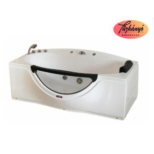 Sanotechnik NASSAU testformájú, üvegablakos, egyenes fürdőkád, 170x90 cm, S303