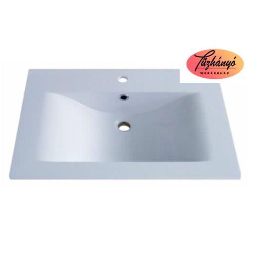 Sanotechnik ráépíthető, öntött márvány mosdó, 75x46x11,4 cm, D7546