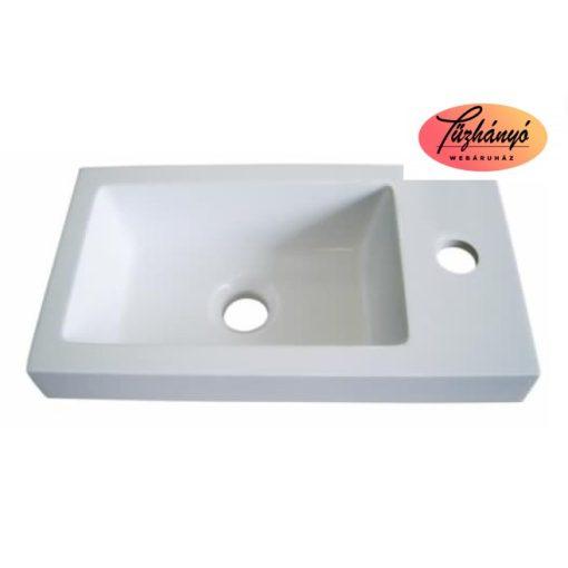 Sanotechnik PORTO ráépíthető, öntött márvány mosdó, 48x25 cm, D4002
