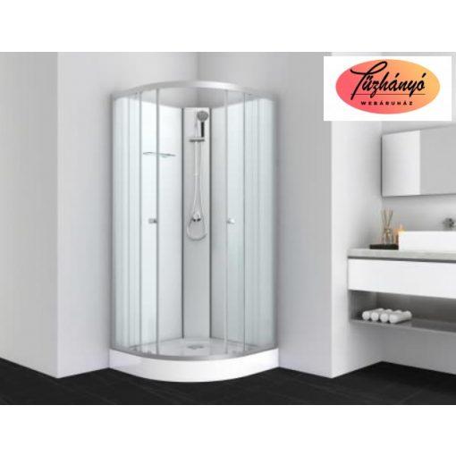 Sanotechnik IDEA 1 komplett zuhanykabin, íves, 80x80 cm, PS10