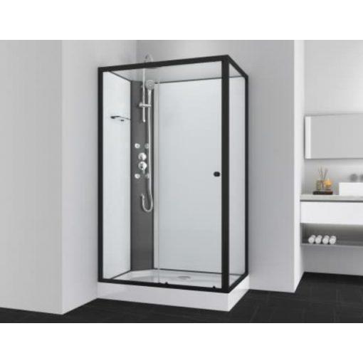 Sanotechnik VIVA 1 hidromasszázs zuhanykabin, aszimmetrikus, fekete, 80x120x225 cm, PS19B
