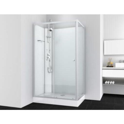 Sanotechnik VIVA 2 hidromasszázs zuhanykabin, aszimmetrikus, króm, 80x120x225 cm, PS19