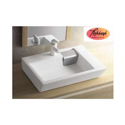 Sanotechnik Ráépíthető kerámiamosdó,szögletes, K810